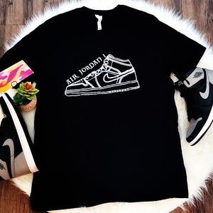 """Nike Air Jordan 1 """"Shadow"""" Custom Shirt AJ1"""